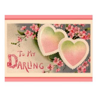 Vintage Valentine's day holiday postcard