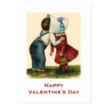 Vintage Valentine's Day Kissing Post Card