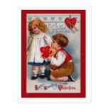 Vintage Valentine's Day Postcard , old-fashioned