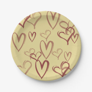 Vintage valentines day 7 inch paper plate