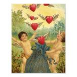 Vintage Valentine's Day, Victorian Angels Hearts Custom Invite