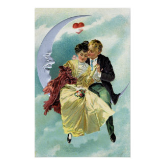 Vintage Valentine's Day Victorian Love and Romance Poster