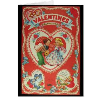 Vintage Valentines Greeting Card