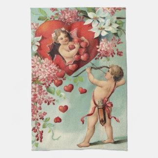 Vintage Valentine's kitchen towel