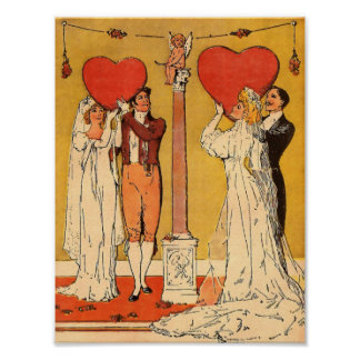 Vintage Valentines Poster