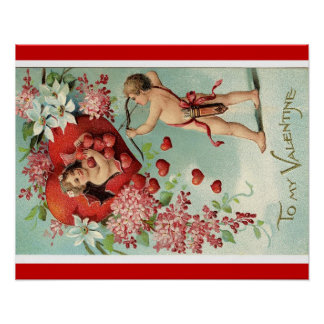 Vintage Valentine's poster