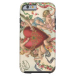 Vintage Valentines, Victorian Cupids Angels Heart Tough iPhone 6 Case