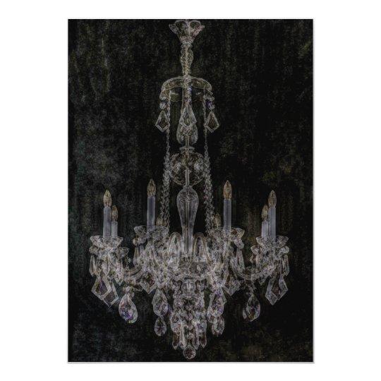 Vintage vampire gothic distressed chandelier card