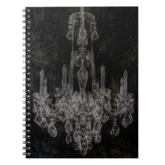 Vintage vampire gothic distressed chandelier notebooks