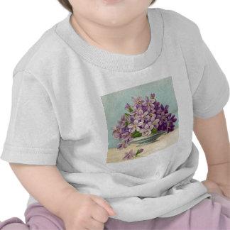 Vintage Vase of Purple Flowers Tee Shirts