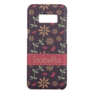 Vintage Vector Floral Pattern with Name Case-Mate Samsung Galaxy S8 Case