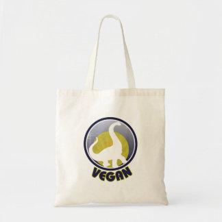 Vintage Vegan Dinosaur Budget Tote Bag