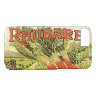 Vintage Vegetable Can Label Art, Rhubarb Farm iPhone 7 Case