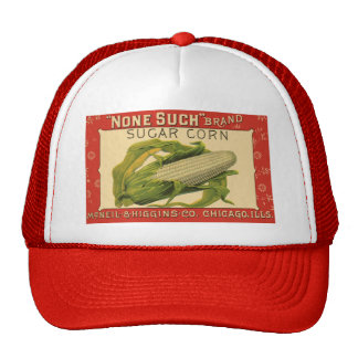 Vintage Vegetable Label Art, None Such Sugar Corn Cap