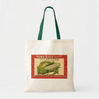 Vintage Vegetable Label Art, None Such Sugar Corn Tote Bag