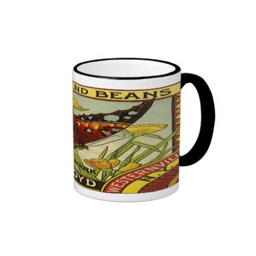 Vintage Vegetable Label - Beans Mugs