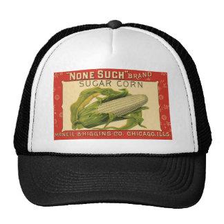 Vintage Vegetable Label, None Such Sugar Corn Trucker Hats