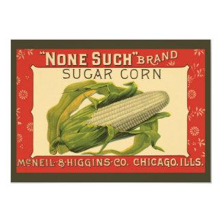 Vintage Vegetable Label, None Such Sugar Corn Announcement