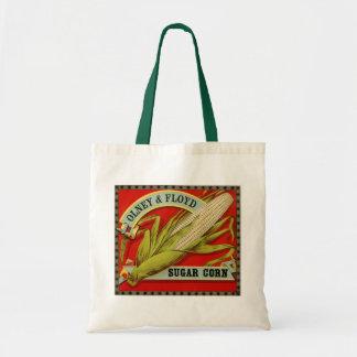 Vintage Vegetable Label, Olney & Floyd Sugar Corn Tote Bag