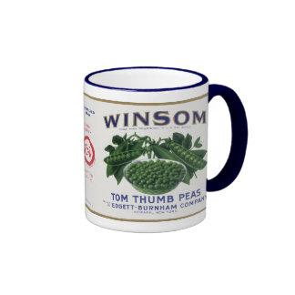 Vintage Vegetable Label - Peas Mugs