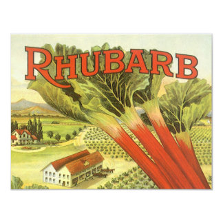 Vintage Vegetable Label, Rhubarb and a Farm Announcements