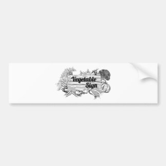 Vintage vegetable produce sign bumper stickers