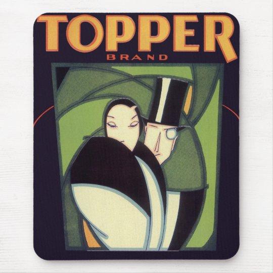 Vintage Vegetable Topper Label, Art Deco Romance Mouse Mat