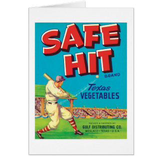 Vintage Vegetables Food Product Label Note Card