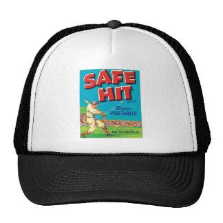 Vintage Vegetables Food Product Label Mesh Hats