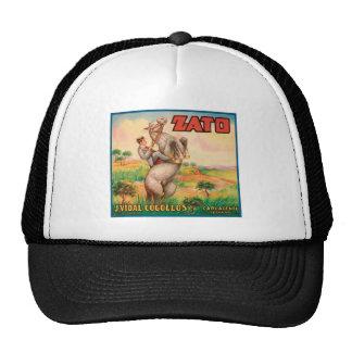 Vintage Vegetables Food Product Label Hat