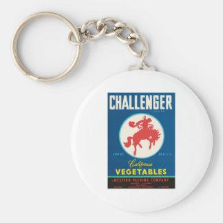Vintage Vegetables Food Product Label Key Chains