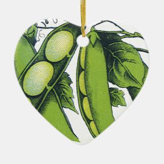Vintage Vegetables; Lima Beans, Organic Farm Foods Christmas Ornament