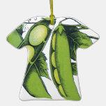 Vintage Vegetables; Lima Beans, Organic Farm Foods Christmas Tree Ornaments