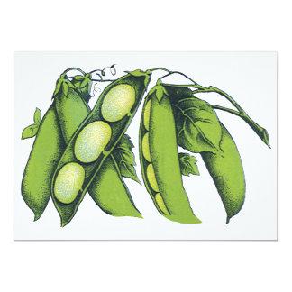 Vintage Vegetables; Lima Beans, Organic Farm Foods Invites