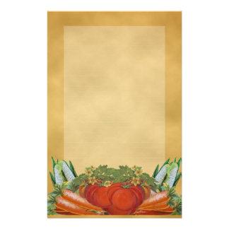 Vintage Vegetables Stationery -Lined