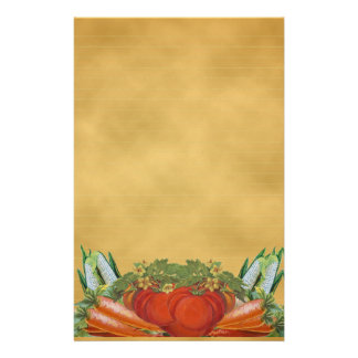 Vintage Vegetables Stationery -Lined