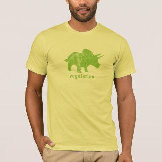 Vintage Vegetarian Triceratops Green T-Shirt