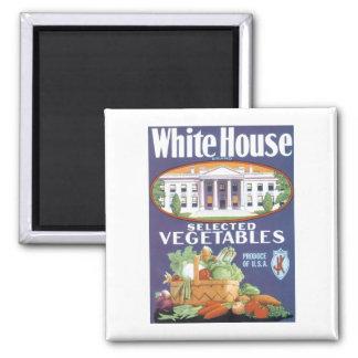 Vintage Veggie Label Ad Fridge Magnet