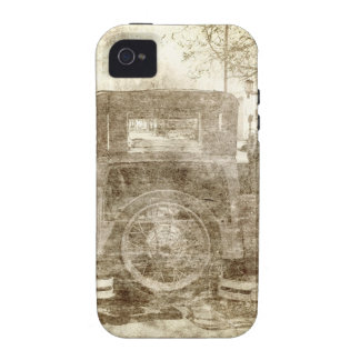 Vintage vehicle stopping for gas iPhone 4/4S cases