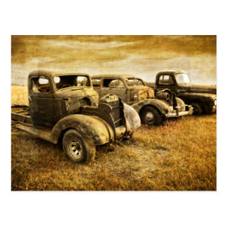 Vintage Vehicles Postcard
