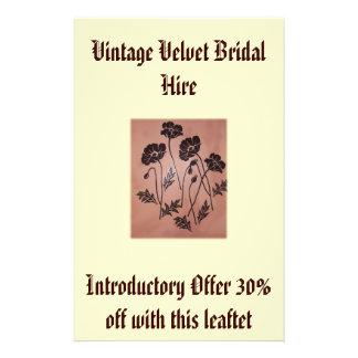 Vintage Velvet Poppies Flyer Design