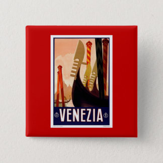 Vintage Venezia 15 Cm Square Badge