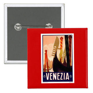 Vintage Venezia 15 Cm Square Badge