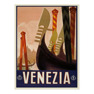 Vintage Venezia | Venice Italy Travel Poster Postcard