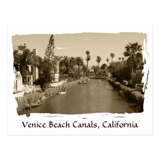 Vintage Venice Beach Canals Postcard!