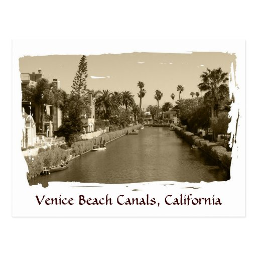 Vintage Venice Beach Canals Postcard! Postcard