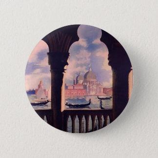 Vintage Venice Italy Travel 6 Cm Round Badge