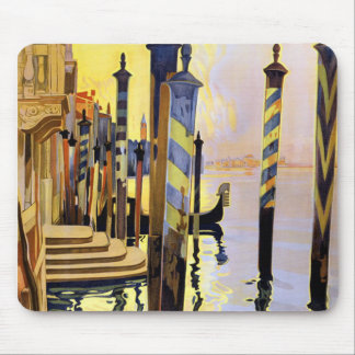 Vintage Venice Italy Travel Mousepad