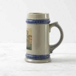 Vintage Venice Palazzo Pesaro 1890's Beer Steins