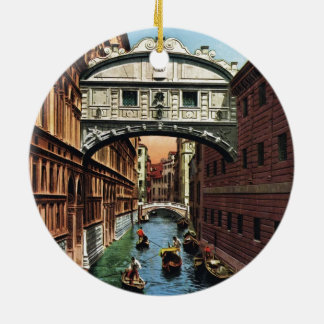 Vintage Venice, the Bridge of Sighs Christmas Ornament